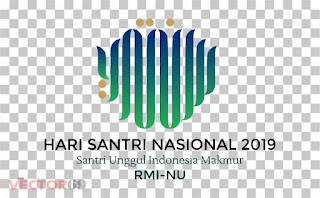 Logo Hari Santri Nasional (HSN) 2019 Santri Unggul Indonesia Makmur RMI-NU - Download Vector File PNG (Portable Network Graphics)