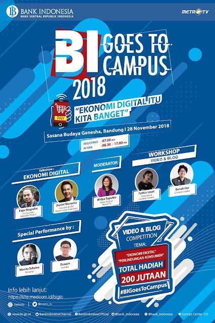 Lomba Video & Blog Competition BI Goes To Campus 2018 Umum