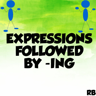 expressions followed by gerund,Expressions followed by VERB+ing,Gerunds,English is easy with rb, expressions followed by ing