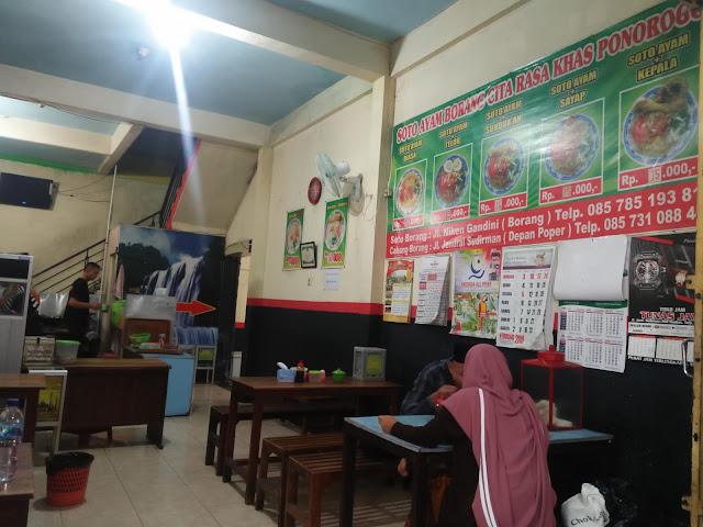 Soto Ayam Borang | Pojok Alun-Alun Ponorogo