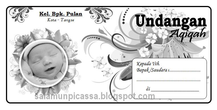 Download Undangan Aqiqah Unik Doc Word Foto Bayi Salamun Picassa