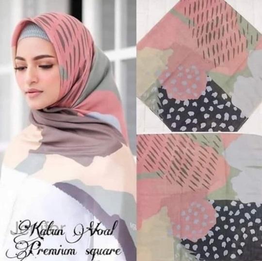 Jilbab Segi Empat Voal Premium