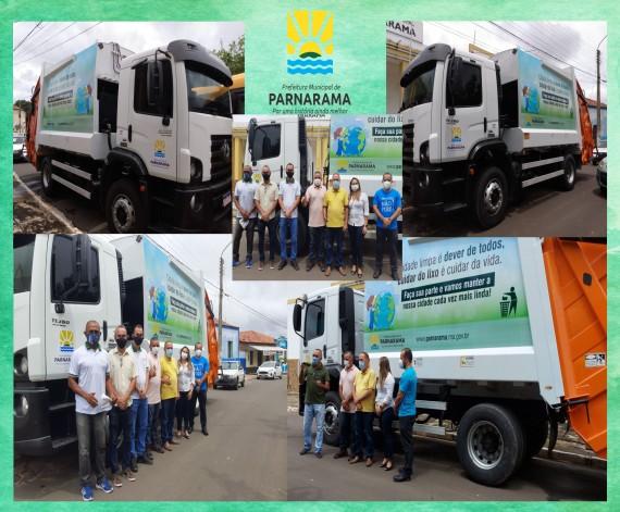Parnarama: Prefeitura disponibiliza Caminhão Coletor e Compactador de Lixo Domiciliar