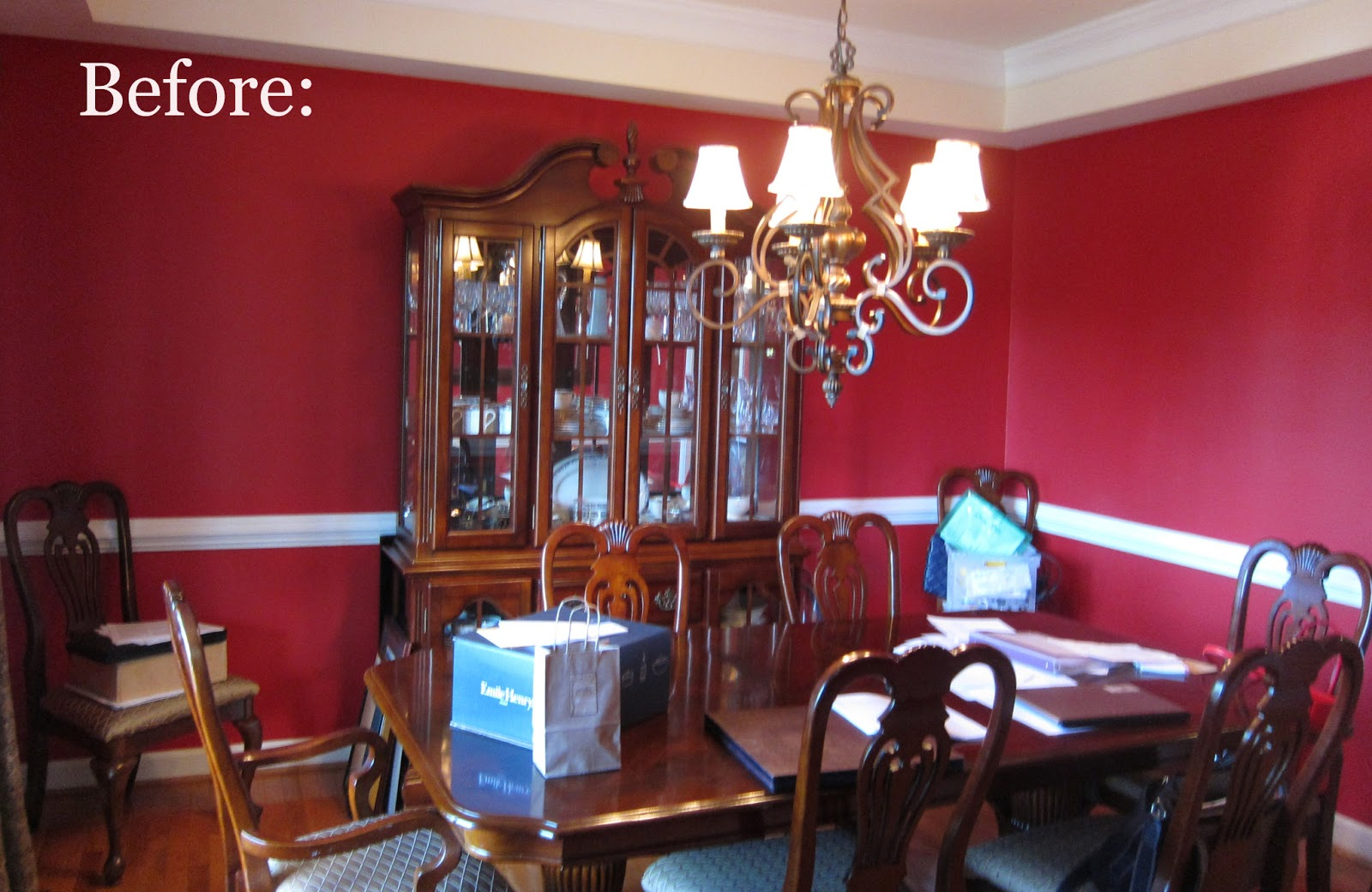 Red And White Dining Room Embellish Different Dining Room