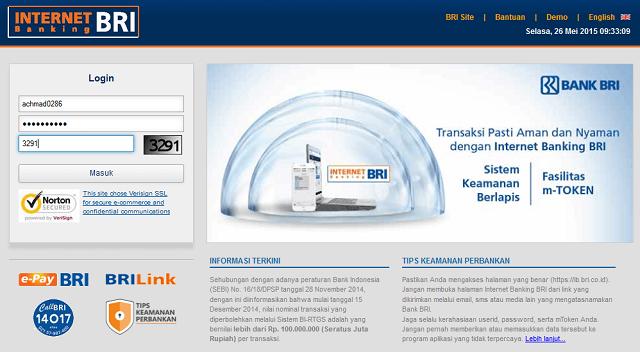 cara mengganti nomor hp di bri internet banking