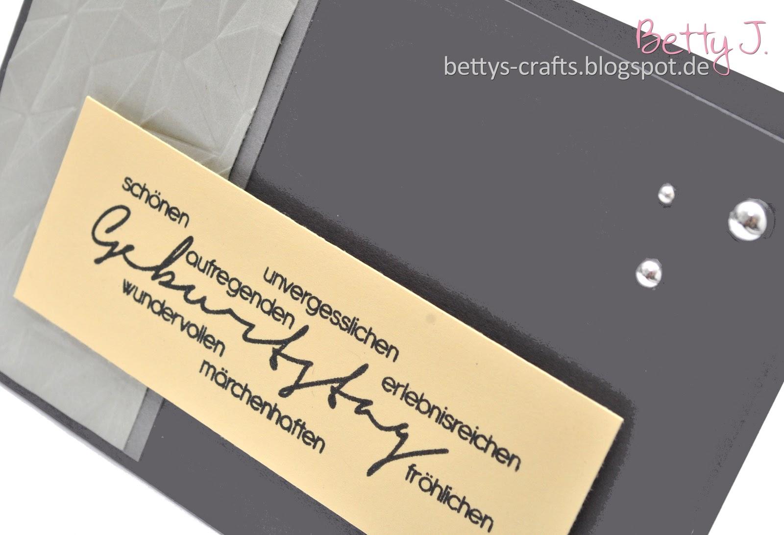 Bettys Crafts: Geburtstagskarte - die zweite