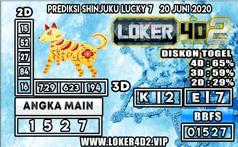 PREDIKSI TOGEL SHINJUKU LUCKY7 LOKER4D2 20 JUNI 2020