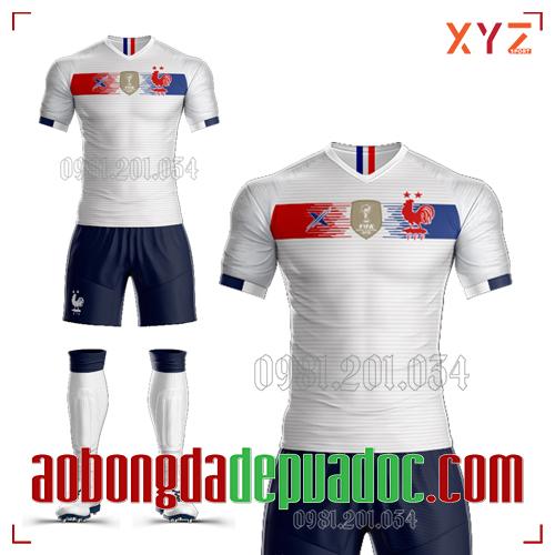 Áo Đội Tuyển Pháp Tự Thiết Kế Mã PHAP-02 Đẹp Và Độc