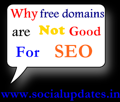 why free domains are not good for seo