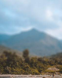 Mountain Blur Background With Sky Free Stock