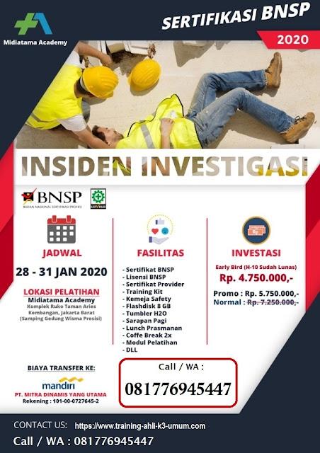 Investigasi Insiden BNSP tgl. 28-31 Januari 2020 di Jakarta