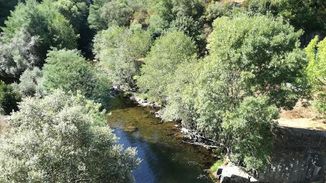 Rio Ceira depois da zona fluvial