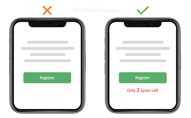 Creating scarcity effect in UI - the mobile spoon