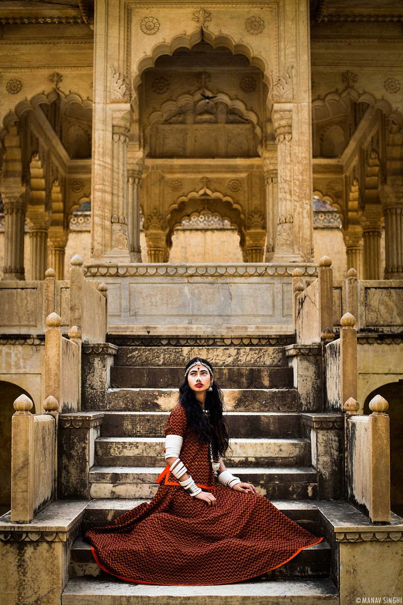 Naina Khan for Campaign Shoot of Rajasthan Style Fest