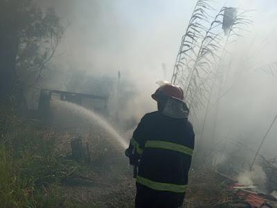 الدفاع المدني تنقذ مجمع الزهراء السكني قبل ان تلتهمه النيران جنوب بغداد
