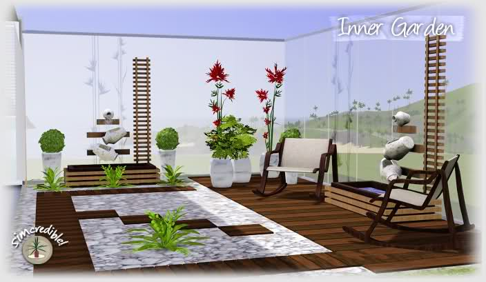 My Sims 3 Blog: Inner Garden Living Set by Simcredible Designs