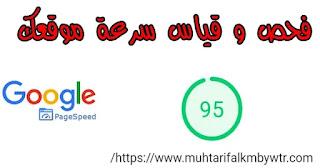 أداة من جوجل لفحص و قياس سرعة موقعك أو مدونتك Page Speed Insights