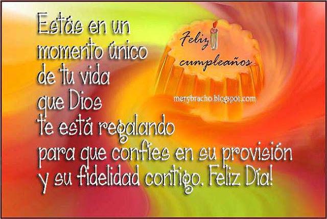 saludo de cumpleaños cristiano Dios es bueno