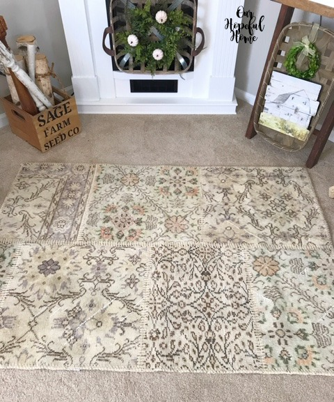 overdyed patchwork farmhouse rug