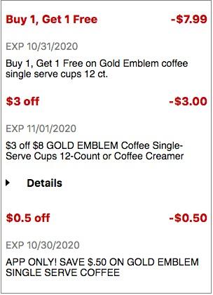 USE $3.00/$6.00 Gold Emblem Ground Coffee CVS crt Coupon (Select CVS Couponers)