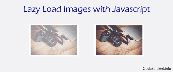 Lazy Load Images with Javascript