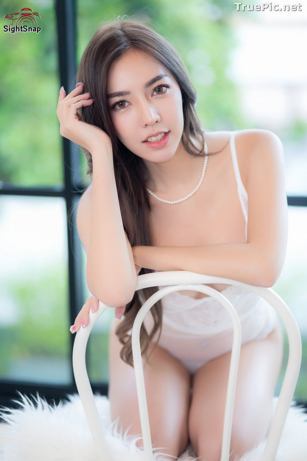 Image Thailand Sexy Model – Champ Phawida - Transparent White Lingerie - TruePic.net - Picture-2