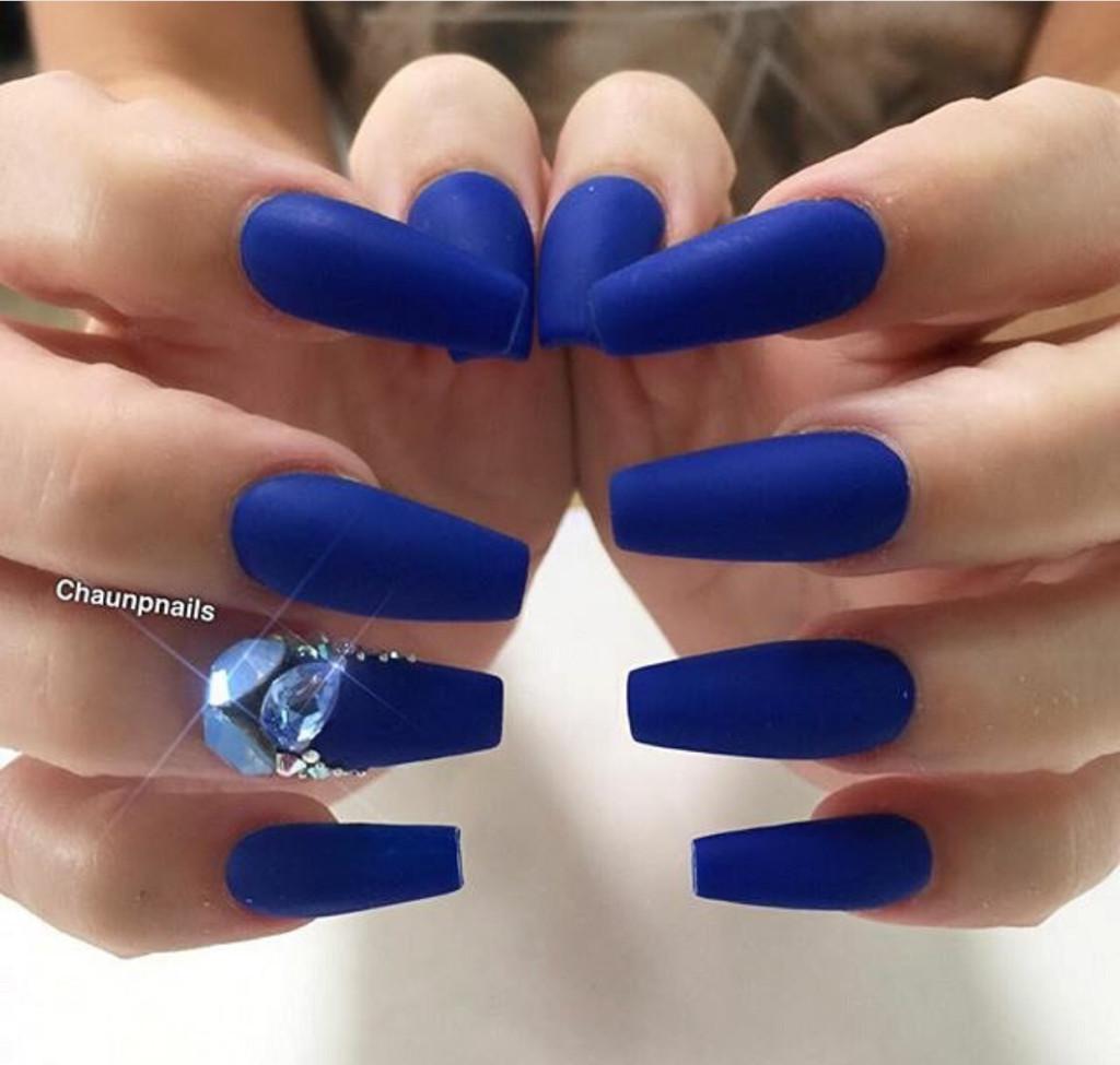 Unha decorada 2020 azul
