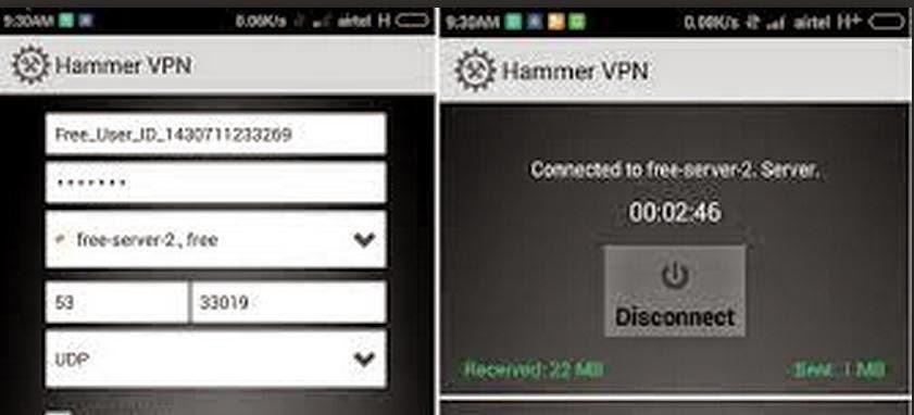 Airtel 3G Free Internet Trick (Hammer Vpn)
