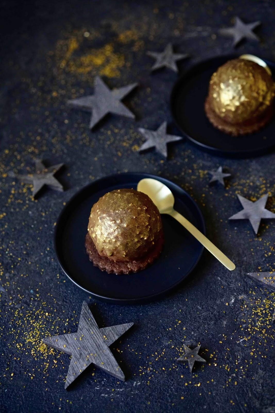 chocolat , dessert de Noel , crème de marron , clement faugier , orange , meringue