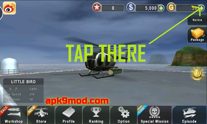 DOWNLOAD Gunship Battle Helicopter 3D MOD APK terbaru