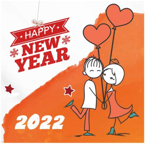 Happy new year love wishes images Hindi 2022