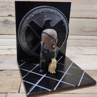 Nick Fury Agent of Shield 3d Printed Diorama