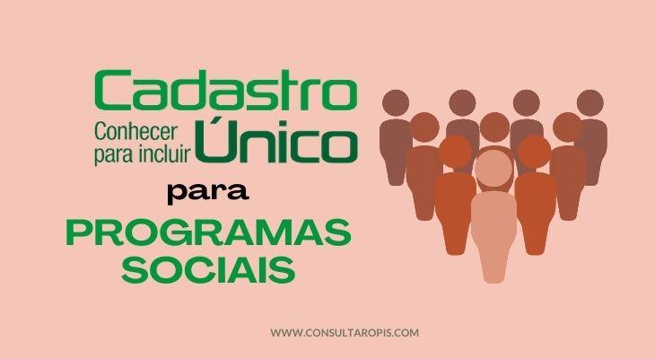 Cadastro único para programas sociais