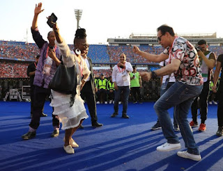 Photos of Femi kuti at the opening ceremony of AFCON 2019