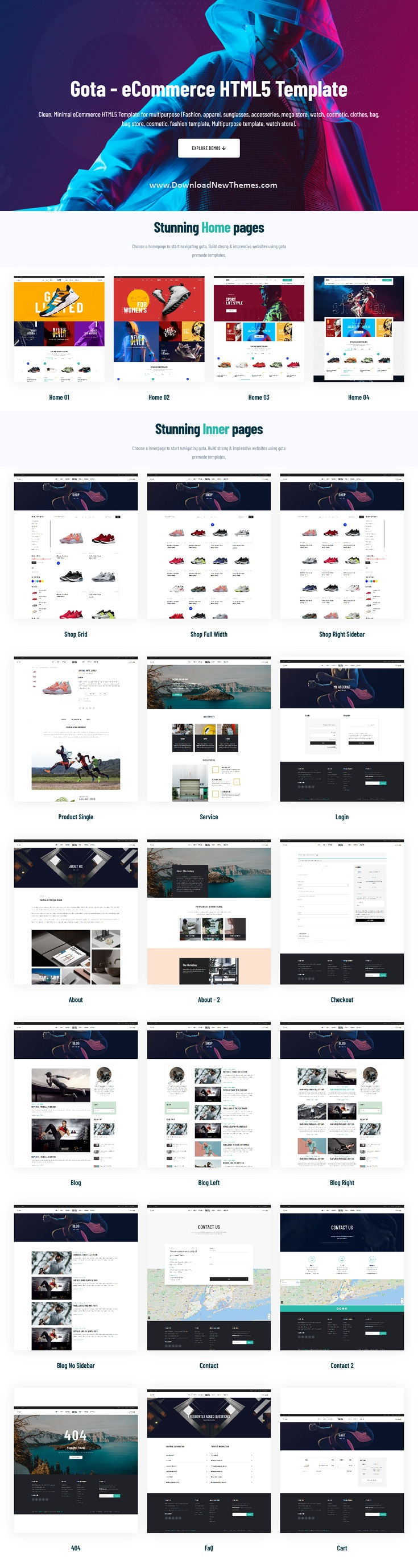 Sport eCommerce Bootstrap Template
