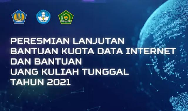 Lanjutan bantuan kuota data internet gratis dan UKT dari Kemdikbudristek