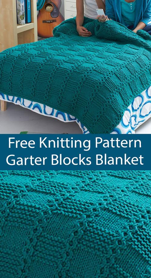 Garter Blocks Blanket - Free Pattern