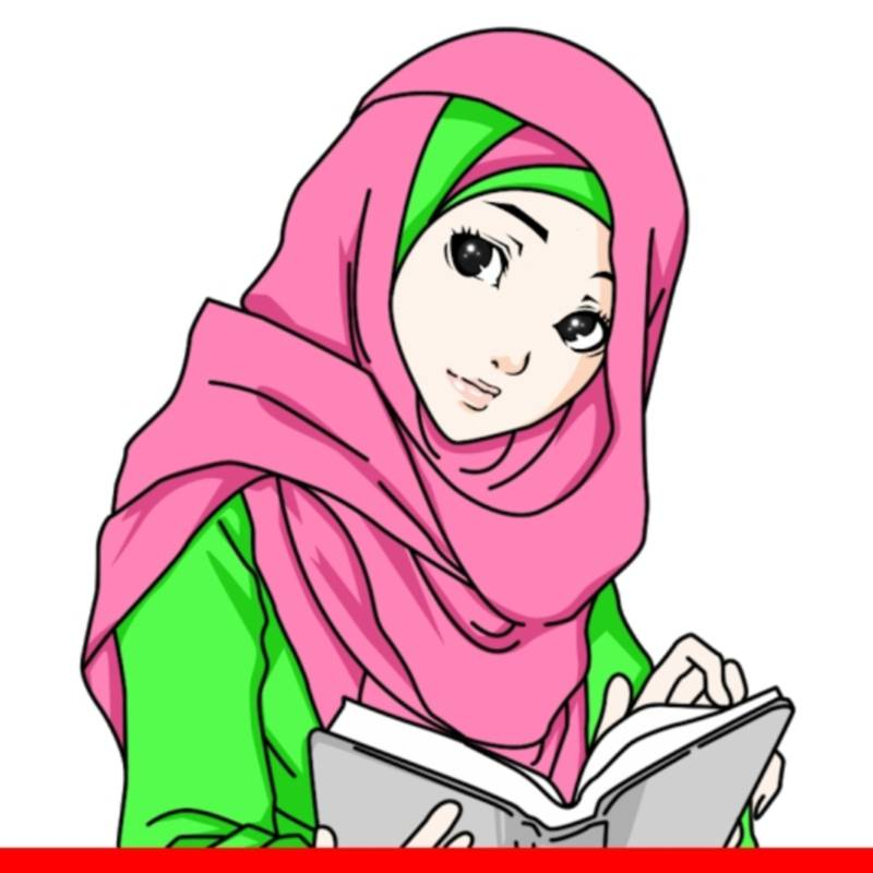 51+ Gambar Kartun Muslimah Memegang Al Quran HD