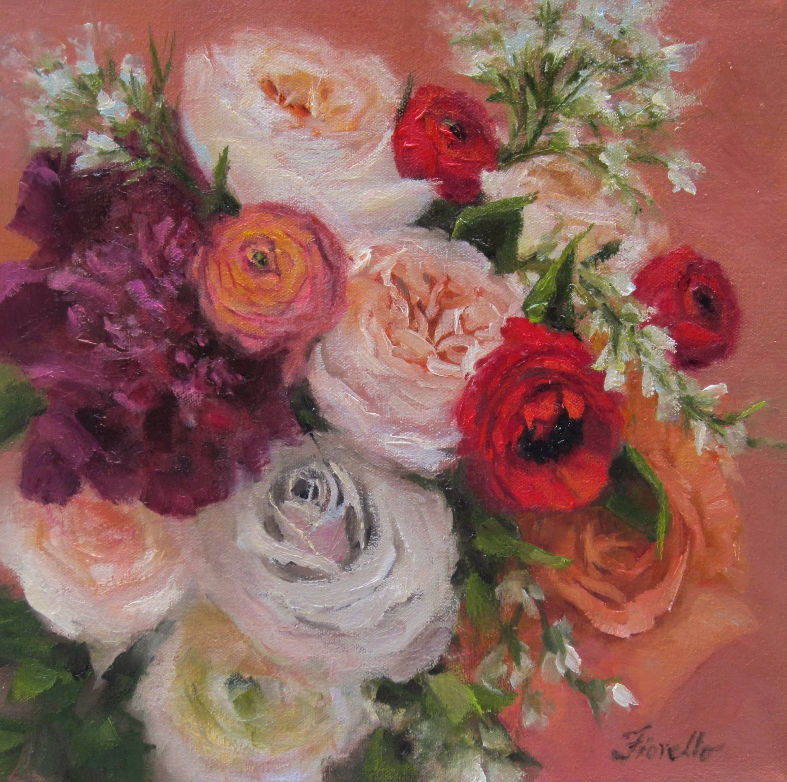 Pat Fiorello - Art Elevates Life: Bridal Bouquet Paintings