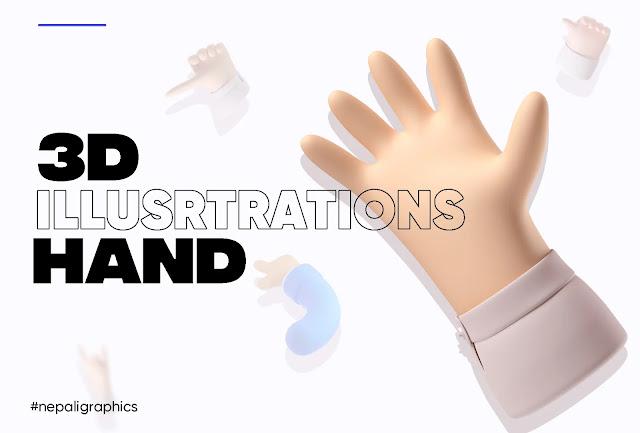 3d-hand-illustrations