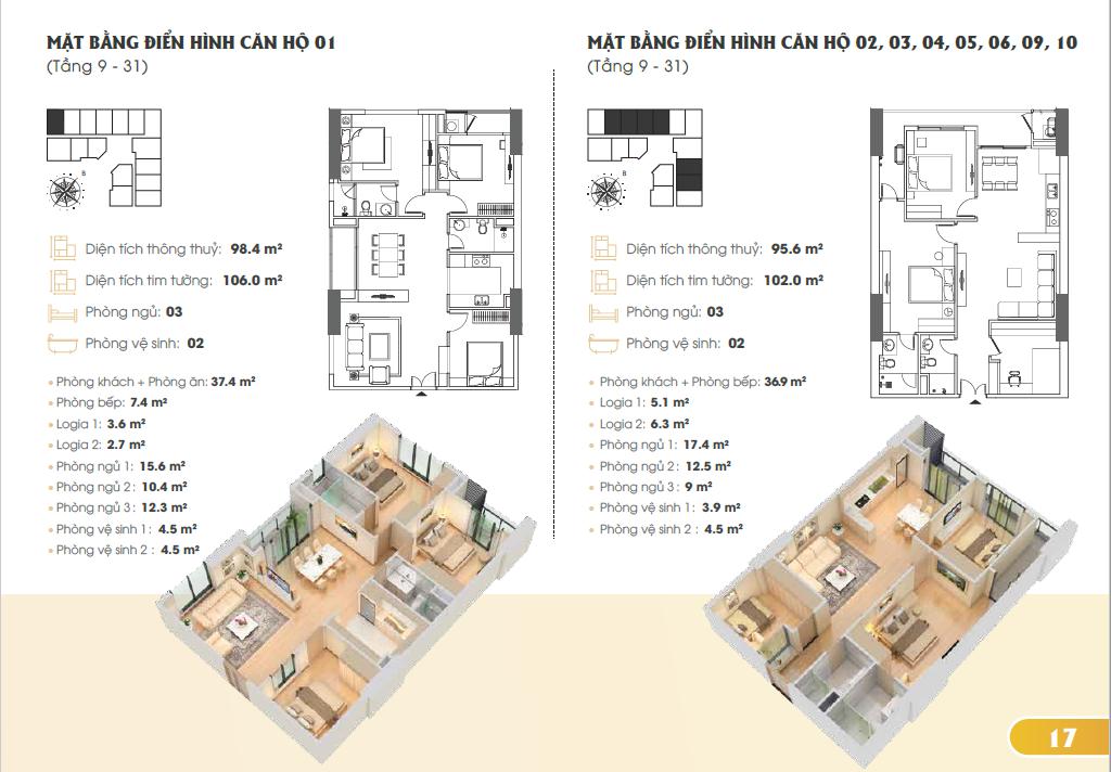 Mặt bằng căn hộ 01-02-03-04-05-06-09-10