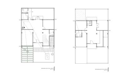Gambar Rencana Air Kotor Lantai 1 dan 2