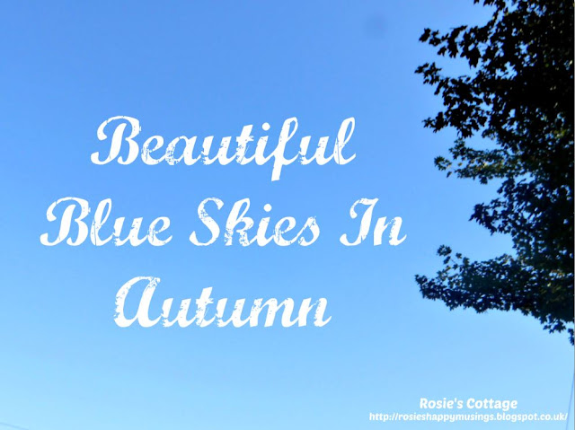 Beautiful blue skies in Autumn