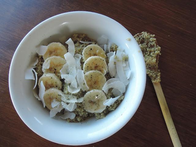 quinoa, porridge, about life, recipe, matcha