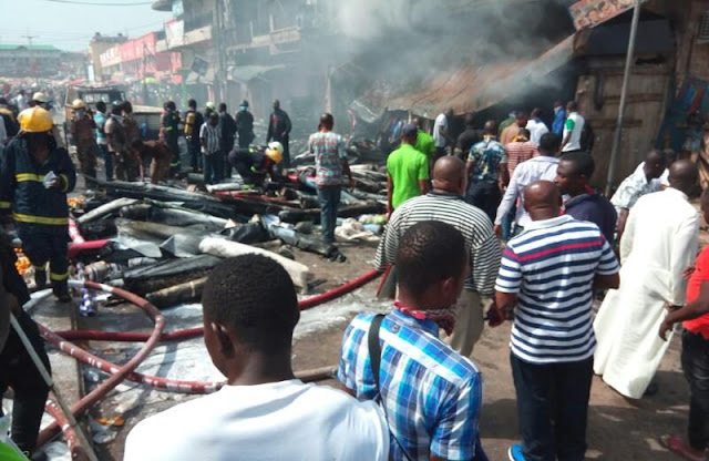 Kumasi Central Market on Fire, Money Destroyed.
