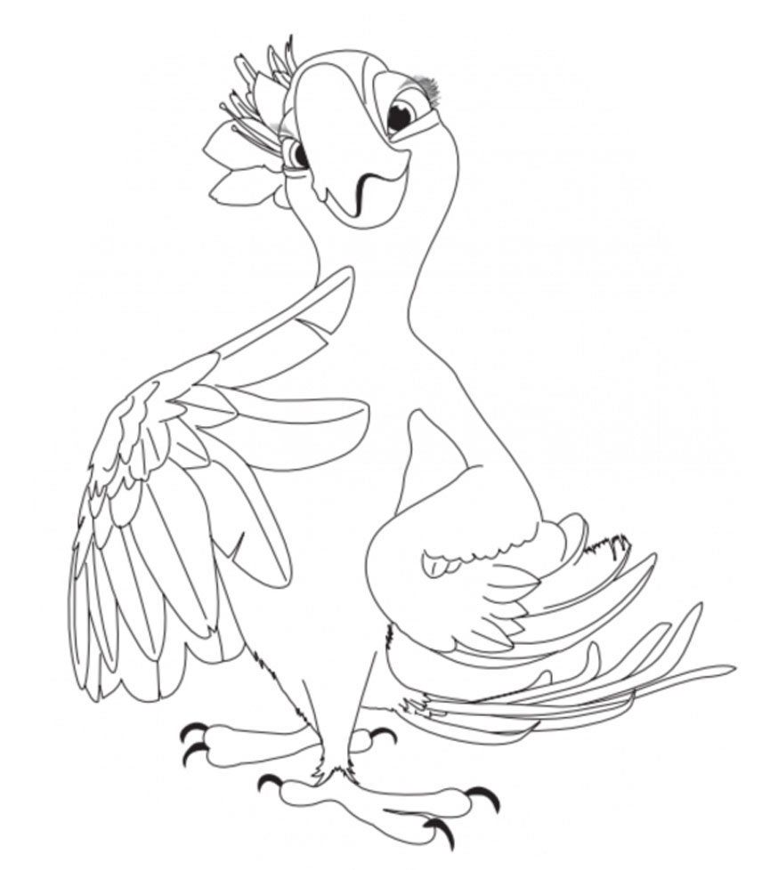 Kids Under 7 Rio Coloring Pages