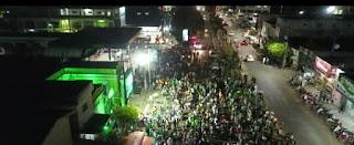 Em Sapé PB militantes do candidato a prefeito Luizinho coloriram a cidade de verde na ultima terça-feira veja videos