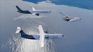 airbus, pesawat, konsep, hidrogen, energi, terbarukan