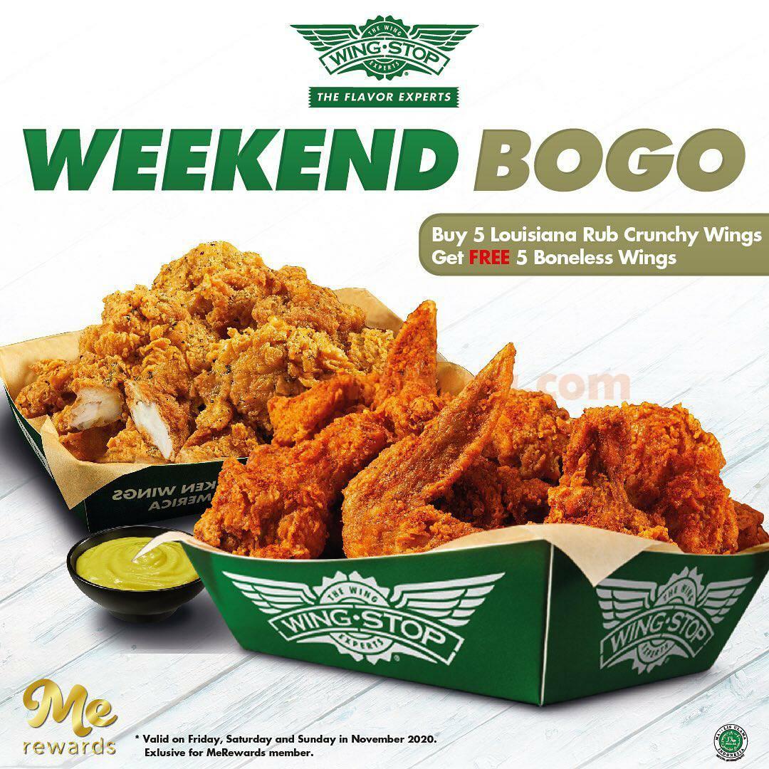 Wingstop Promo Weekend BOGO GRATIS 5pcs Boneless Wings flavor