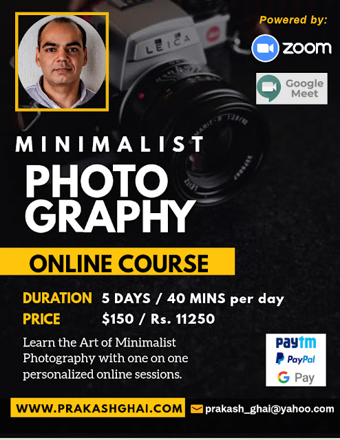 Minimalist Photography Course/Classes Poster